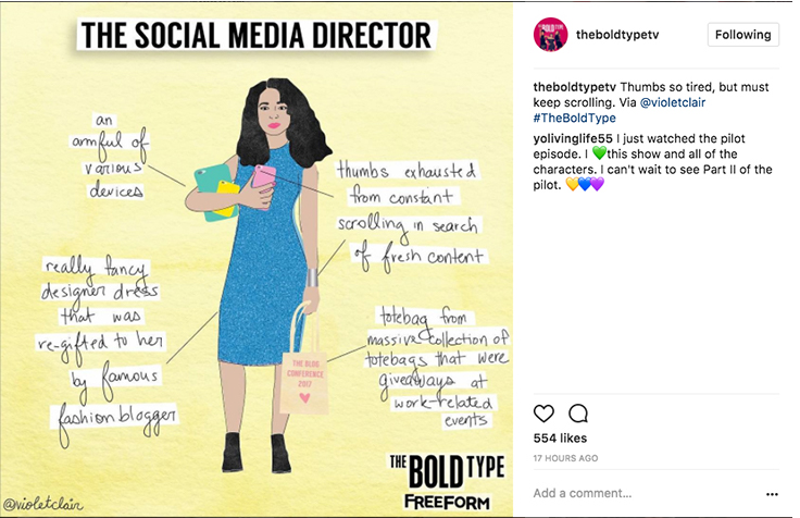 The Bold Type Social Media